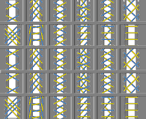 A great site that provides us with an interesting 31 ways of lacing,